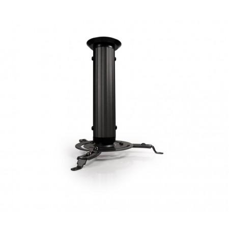 BASE PARA PROYECTOR KLIPX NEGRA DE TECHO 230mm SOPORTA HASTA 10Kg (22lbs)