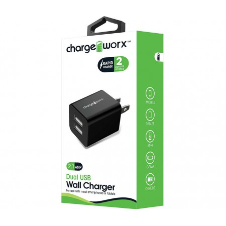 CARGADOR DUAL USB CHARGE WORX DE PARED