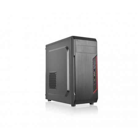 CASE AGILER GAMING ATX NEGRO CON PANEL TRANSPARENTE LATERAL, 4 ABANICOS 120MM NEGRO, INCLUYE POWER SUPPLY (AGI-C011)