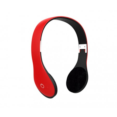 AUDIFONO AGILER, BLUETOOTH CON TF CARD, FM, ROJO.