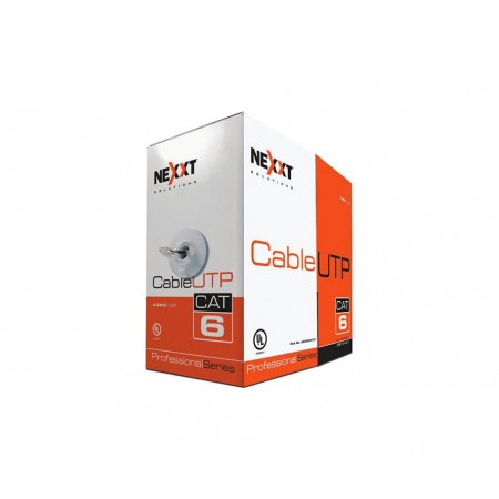 ROLLO DE CABLE UTP NEXXT, CAT-6, 1000 PIES, GRIS.