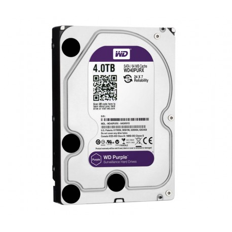"DISCO DURO 4TB P/VIDEOVIGILANCIA WESTERN DIGITAL 3.5"" SATA 6GB/S 7200RPM/64MB."