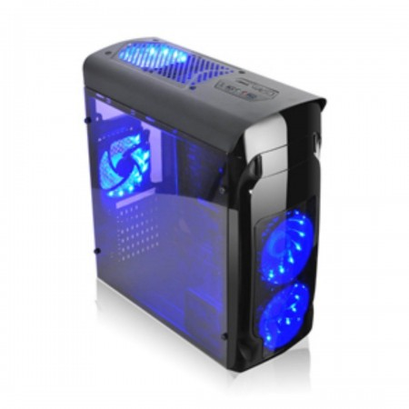 CASE AGILER GAMING ATX NEGRO CON PANEL TRANSPARENTE LATERAL, 4 ABANICOS 120MM LED AZUL, NO INCLUYE POWER SUPPLY (AGI-C010)