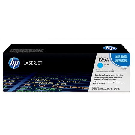 TONER HP 125A CB541A CYAN GENUINE 14K CP1215 CP1518IN CP1515N - 1400 PAGES -
