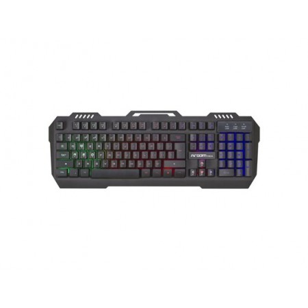TECLADO ARGOM COMBAT GAMING, USB, BACKLIGHT, INGLES, COLOR NEGRO (ARG-KB-2056KB)