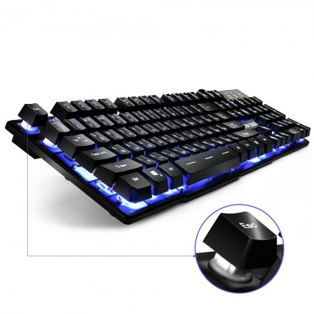 TECLADO USB Fantech (Mod.K613L) Multimedia Gaming