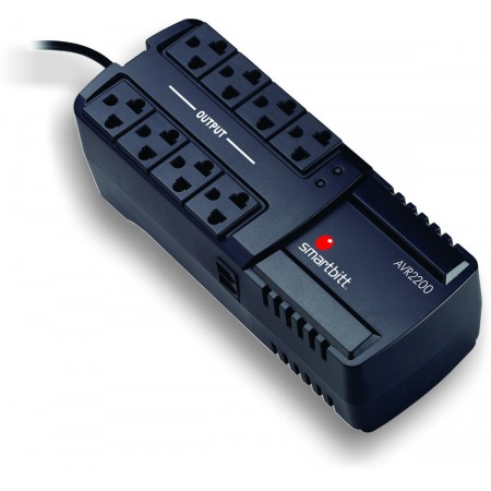 REGULADOR DE VOLTAJE Smartbitt (Mod.SBAVR2200) AVR 2200VA 8 SALI