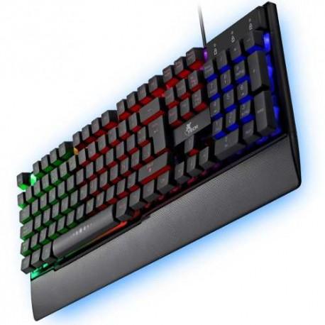 TECLADO GAMER XTECH XTK-510S, USB, ESPAÑOL, MULTIMEDIA, LUZ DE FONDO