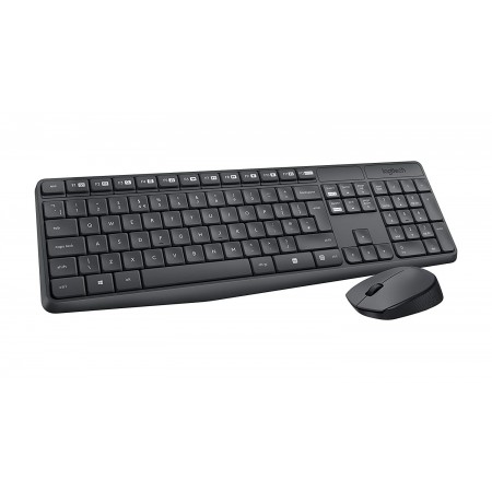 TECLADO MOUSE LOGITECH MK235 USB WIRELESS RECEIVER 2.4GHZ WIRELESS, ESPAÑOL