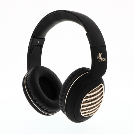 AUDIFONO CON MICROFONO XTECH PALLADIUM BLUETOOTH Y RADIO FRECUENCIA 2.4 GHZ, NEGRO (XTH-630SV)