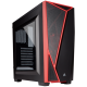 CASE CORSAIR CARBIDE SPEC-04 GAMING, MID TOWER, BLACK/RED