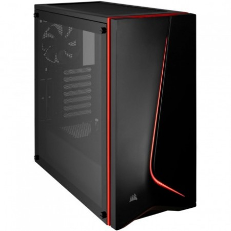 CASE CORSAIR CARBIDE SPEC-06 GAMING, MID TOWER, BLACK/ROJO