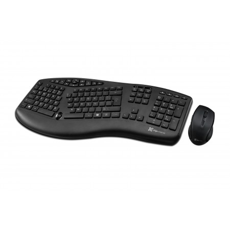TECLADO MOUSE KLIPX MAJESTIK DUO, INALAMBRICO, ERGONOMICO, MULTIMEDIA, BLACK, INGLES