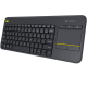 TECLADO Y TOUCHPAD LOGITECH K400 PLUS USB WIRELESS