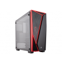 CASE CORSAIR CARBIDE SPEC-04 GAMING, MID TOWER, BLACK/RED, USB 3.0 X2, AUDIO IN