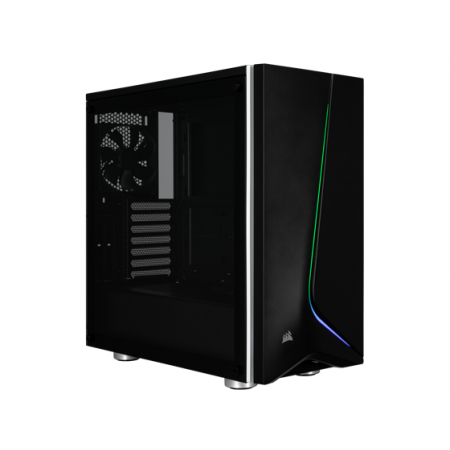 CASE CORSAIR CARBIDE SPEC-06 GAMING, MID TOWER, NEGRO/RGB