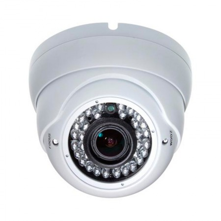 CAMARA DOMO IP (Mod.IPDF130SZ)Varifocal 1/3-inch 1.3 Megapixellente 2.8-12mm30pcs LEDIR Range  25M Waterproof (HI3518C+AR