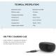 AUDIFONO FANTECH (Mod. TX-1 Mithril) IPX4 Bluetooth 5.0,Cargador, COLOR: NEGRO