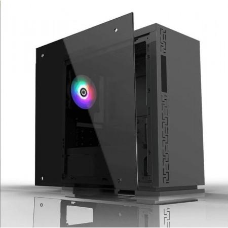 CASE MYO GAMING , 1 LED TRASERO AZUL FANS, USB 3.0 + 2 USB, AUDIO MYO-G450, UERTO, TRANSP