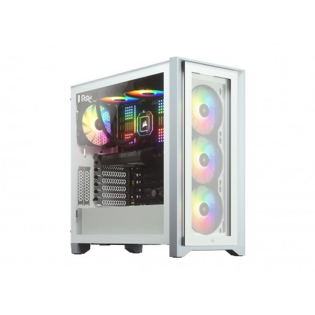 CASE CORSAIR ICUE 4000X, MID TOWER, WHITE