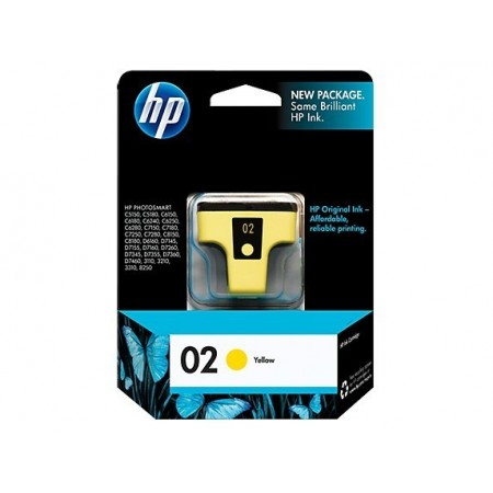 CARTUCHO HP 02 AMARILLO P/ PSMART 8250 6ML