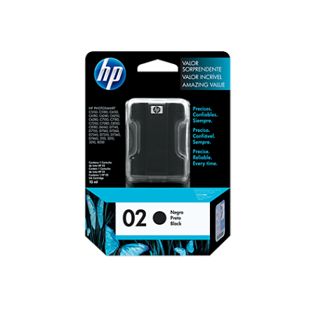 CARTUCHO HP 02 NEGRO P/ PSMART 8250 10ML