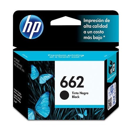 CARTUCHO HP 662 - PRINT CARTRIDGE - 1 X PIGMENTED BLACK - 120 PAGES DESKJET INK ADVANTAGE 2515 DJ 35153545 2545