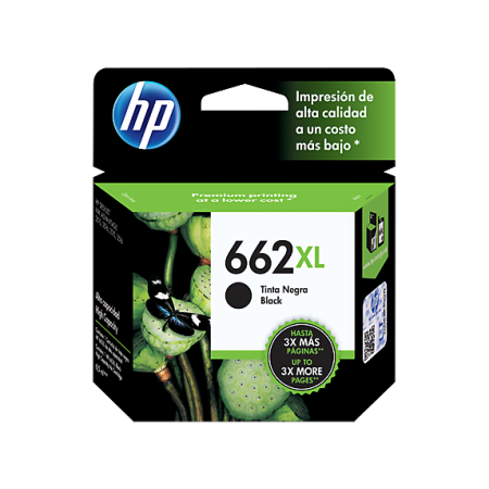 CARTUCHO HP 662XL - PRINT CARTRIDGE - 1 X PIGMENTED BLACK - 360 PAGES - FOR DESKJET INK ADVANTAGE 2515 DJ 3515 3545