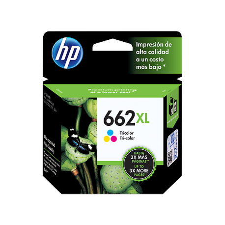 CARTUCHO HP 662XL - PRINT CARTRIDGE - 1 X TRICOLOR - 300 PAGES - FOR DESKJET INK ADVANTAGE 2515 DJ 3515 3545