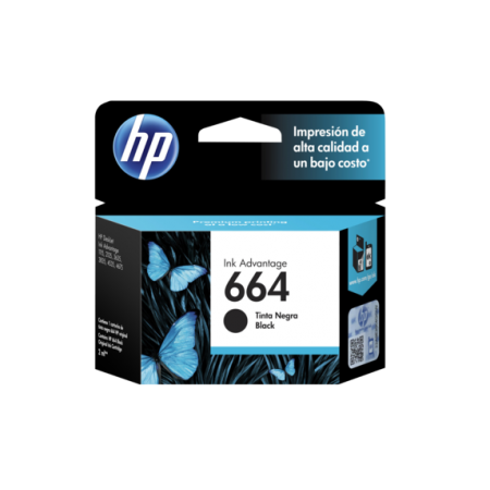 CARTUCHO HP 664 BLACK INK CARTRIDGE PARA IMPRESORAS INK ADVANTAGE 2135363545353835 1115