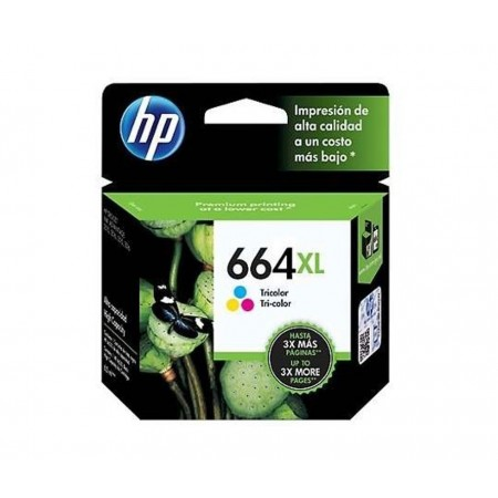 CARTUCHO HP 664XL COLOR INK HIGH YIELD CARTRIDGE PARA IMPRESORAS INK ADVANTAGE 2135363545353835 1115