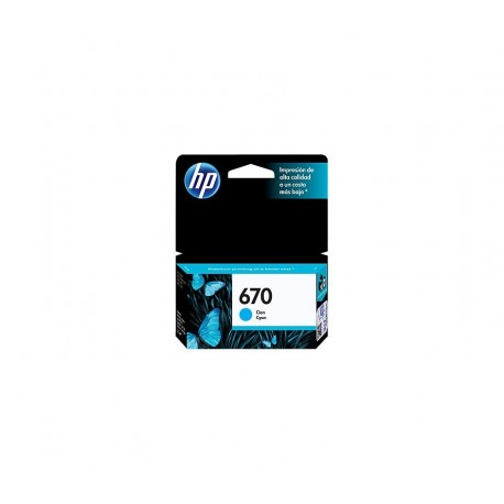 CARTUCHO HP 670 - PRINT CARTRIDGE - 1 X DYE-BASED CYAN - 300 PAGES - FOR DESKJET INK ADVANTAGE 3525 DJ4615 DJ3525 DJ5525 DJ