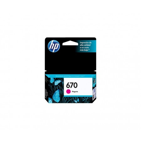 CARTUCHO HP 670 - PRINT CARTRIDGE - 1 X DYE-BASED MAGENTA - 300 PAGES - FOR DESKJET INK ADVANTAGE 3525 DJ4615 DJ3525 DJ5525
