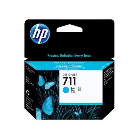 CARTUCHO HP 711 - CZ130A - PRINT CARTRIDGE - 1 X CYAN - FOR DESIGNJET T120 EPRINTER T520 EPRINTER
