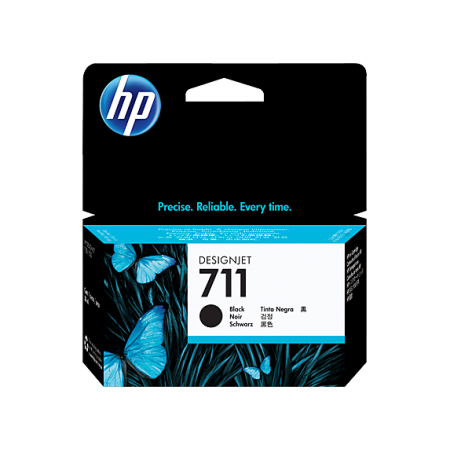 CARTUCHO HP 711 - CZ133A - PRINT CARTRIDGE - 1 X BLACK - FOR DESIGNJET T120 EPRINTER T520 EPRINTER