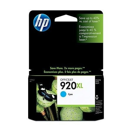 CARTUCHO HP 920XL CIAN HIGH CAPACITY INK CARTRIDGE - CD972A COMPATIBLE CON OFFICEJET 6000 6500A Y 7500A 6ML